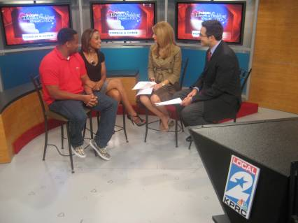 Houston couple Porsha and Chris on Local 2 Mornings