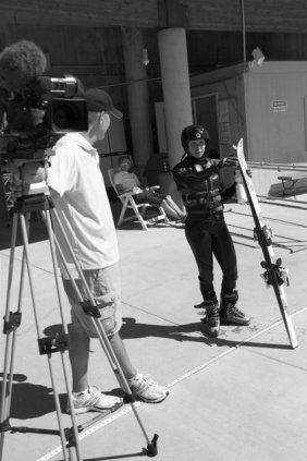 Local 2 Photographer Allen Reid and Olympic Freestyle Aerialist Emily Cook