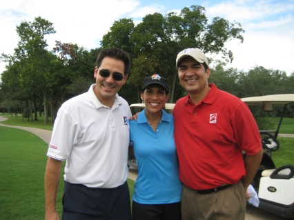Owen, Rachel, & Anthony at Rachel Golf Tourney for Big Brothers Big Sisters of Great Houston.